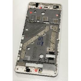MARCO FRONTAL DE LCD BQ AQUARIS X5 - RECUPERADO - BLANCA