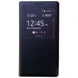 Funda de Cuero Libro con Visor Samsung Galaxy Note 3 Negra