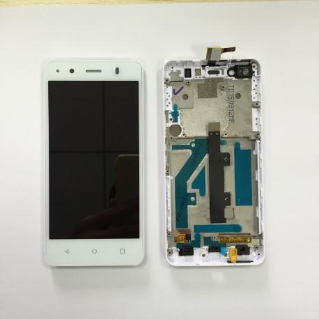 PANTALLA LCD DISPLAY + TACTIL CON MARCO ORIGINAL PARA BQ AQUARIS M4.5 BLANCA - RECUPERADA