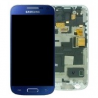 Pantalla completa con Marco Original Samsung galaxy S4 Mini i9195 azul