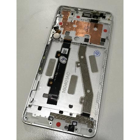 PANTALLA LCD DISPLAY + TACTIL CON MARCO PARA BQ AQUARIS X5 PLUS / REMANUFACTURADA - BLANCA