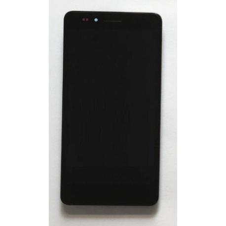 PANTALLA LCD DISPLAY + TACTIL CON MARCO PARA HUAWEI Y6 PRO - NEGRA