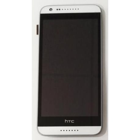 PANTALLA LCD DISPLAY + TACTIL CON MARCO HTC DESIRE 620 - BLANCO