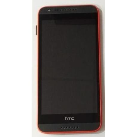 PANTALLA LCD DISPLAY + TACTIL CON MARCO HTC DESIRE 620 - ROJA / GRIS