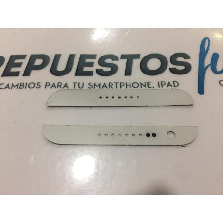 SET DE EMBELLECEDORES BLANCOS ORIGINAL HTC DESIRE 620 - RECUPERADO