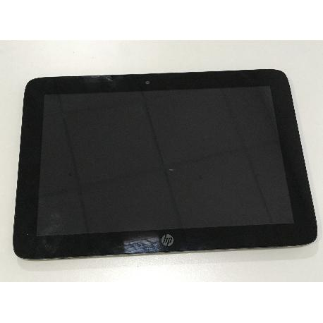 PANTALLA LCD DISPLAY + TACTIL CON MARCO ORIGINAL PARA HP SLATE 10 HD 3500SP - NEGRA / RECUPERADA