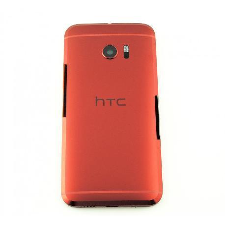 CARCASA TRASERA DE BATERIA CON LENTE ORIGINAL PARA HTC 10 - ROJA