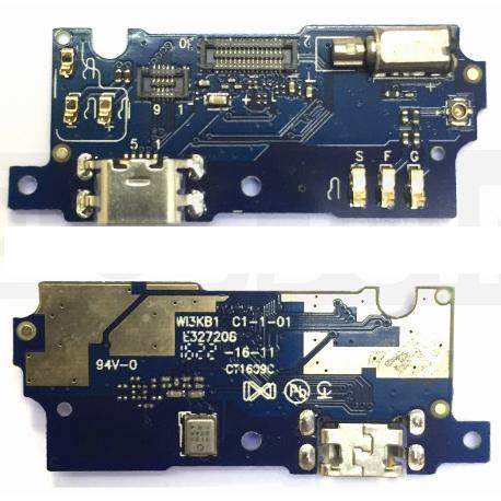 MODULO CONECTOR DE CARGA MICRO USB, ANTENA Y MICROFONO PARA MEIZU M3S