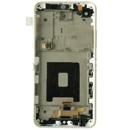 PANTALLA LCD DISPLAY + TACTIL CON MARCO PARA LG K500N X SCREEN,K500, X SCREEN - BLANCA