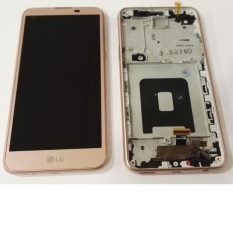 PANTALLA LCD DISPLAY + TACTIL CON MARCO PARA LG K500N X SCREEN,K500, X SCREEN - ROSA