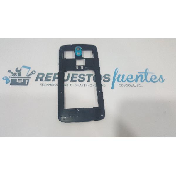 CARCASA INTERMEDIA ORIGINAL HTC DESIRE 500 AZUL - RECUPERADA