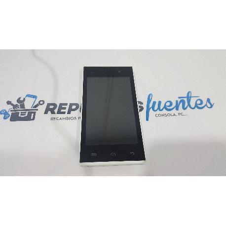 PANTALLA LCD + TACTIL CON MARCO ORIGINAL PARA QILIVE Q4034 BLANCA - RECUPERADA