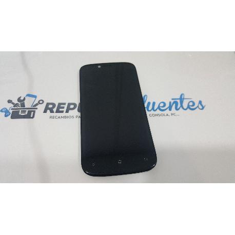 PANTALLA LCD + TACTIL CON MARCO ORIGINAL PARA QILIVE Q 4122 NEGRA - RECUPERADA
