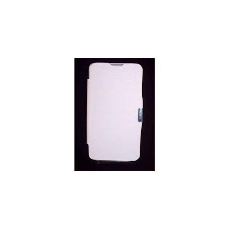 Funda de cuero Flip Cover Libro Blanca BQ Aquaris 5