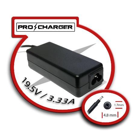 CARGADOR PRO CHARGER DE PORTATIL 19.5V/3.33A 4.8MM X 1.7MM 65W