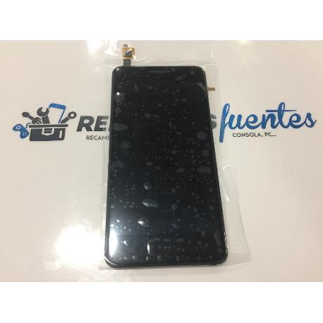 PANTALLA LCD DISPLAY + TACTIL CON MARCO ORIGINAL BQ AQUARIS 5.7 NEGRA - RECUPERADA
