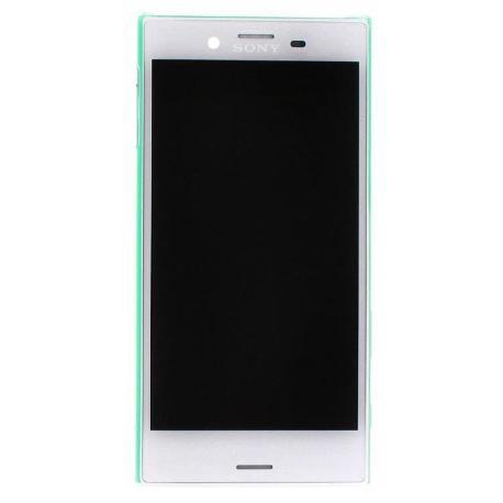 PANTALLA LCD DISPLAY + TACTIL CON MARCO PARA SONY XPERIA X COMPACT F5321 - BLANCA