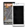 Repuesto pantalla lcd + tactil con marco Original Sony Xperia SP C5303 C5302 M35H Blanca