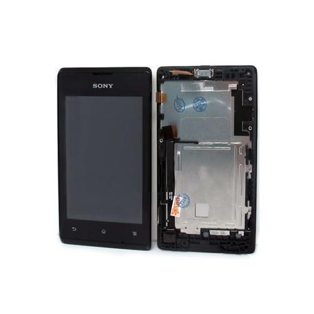Pantalla completa con marco Original Sony Xperia E Negro de desmontaje