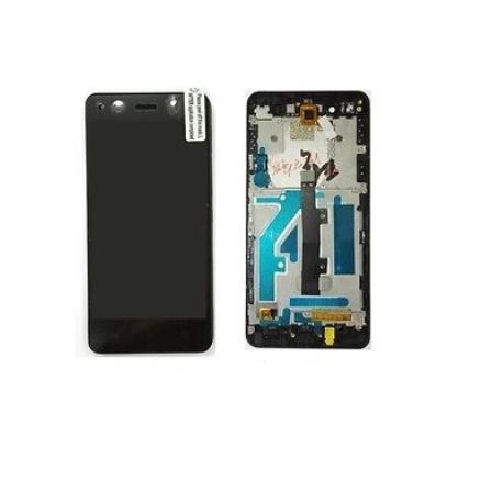 PANTALLA LCD DISPLAY + TACTIL CON MARCO ORIGINAL BQ AQUARIS A4.5 NEGRA - RECUPERADA