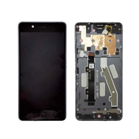 """PANTALLA LCD DISPLAY + TACTIL CON MARCO ORIGINAL PARA BQ AQUARIS X5 - NEGRA  """"RECUPERADA"""""""