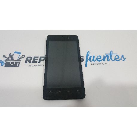 REPUESTO PANTALLA TACTIL + LCD CON MARCO ORIGINAL PARA ARCHOS 45 PLATINUM NEGRA - RECUPERADA