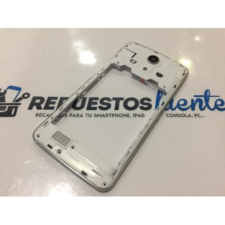 CARCASA INTERMEDIA BLANCA ORIGINAL ZOPO SPEED 7 PLUS ZP952 - RECUPERADA