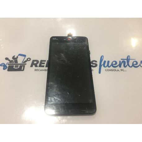 PANTALLA LCD DISPLAY + TACTIL CON MARCO ORIGINAL WIKO RAINBOW JAM 3G ROJA - RECUPERADA