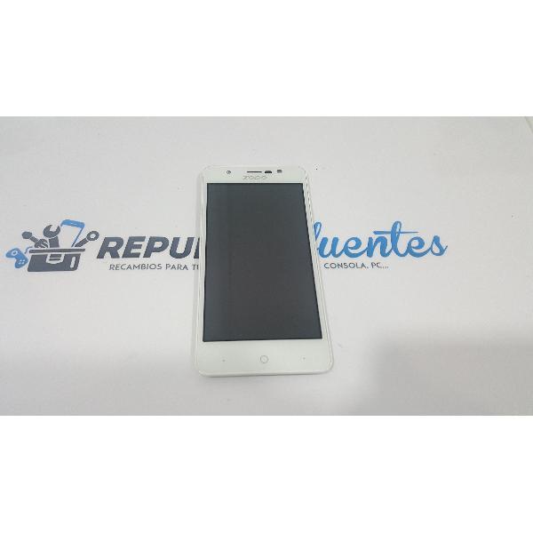PANTALLA LCD + TACTIL CON MARCO ORIGINAL PARA ZOPO ZP330 BLANCA - RECUPERADA