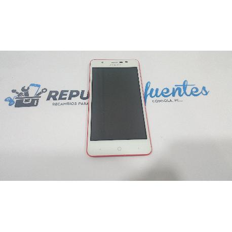 PANTALLA LCD + TACTIL CON MARCO ORIGINAL PARA ZOPO ZP330  ROSA - RECUPERADA