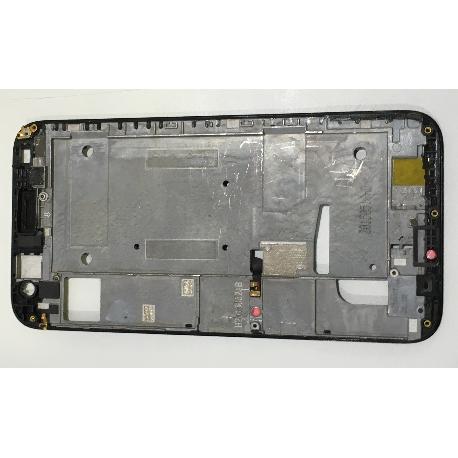 CARCASA MARCO FRONTAL DE LCD ORIGINAL PARA HUAWEI G7 - NEGRA / DESMONTAJE