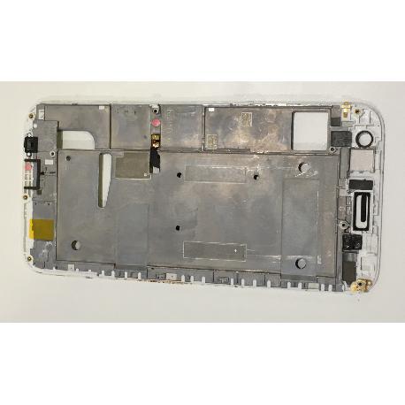 CARCASA MARCO FRONTAL DE LCD ORIGINAL PARA HUAWEI G7 - BLANCA / DESMONTAJE