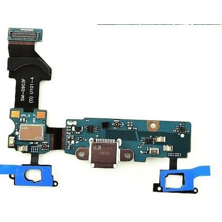 FLEX CONECTOR DE CARGA MICRO USB + MICROFONO ORIGINAL PARA SAMSUNG SM-G903F GALAXY S5 NEO - DESMONTAJE