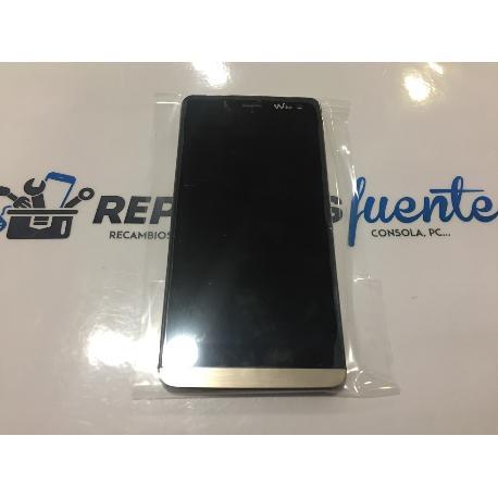PANTALLA LCD DISPLAY + TACTIL CON MARCO WIKO GETAWAY ORO - RECUPERADA