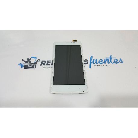 PANTALLA LCD + TACTIL CON MARCO ORIGINAL PARA MASTERPHONE 5 BLANCA - RECUPERADA