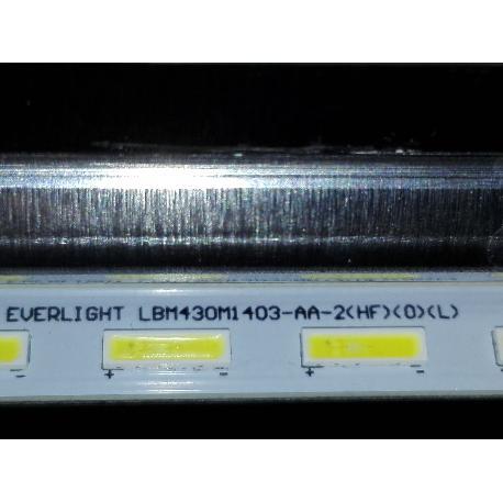 BARRA DE LED TV SONY KDL-43W808C WCM 3#1 733.00X0A.XXXX R01 EVERLIGHT LBM430-AA-2(HF)(0)(L)