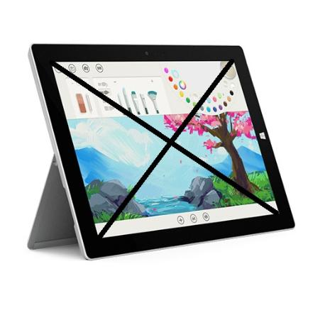 REPUESTO DE TABLET COMPLETA PARA REPARAR - MICROSOFT SURFACE PRO 3 1631 TABLET 128GB - PLATA
