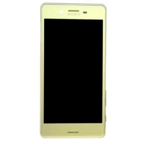 PANTALLA LCD DISPLAY + TACTIL CON MARCO PARA SONY XPERIA X PERFORMANCE  F8131, F8132 - AMARILLA