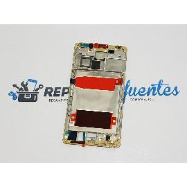 CARCASA FRONTAL DE LCD PARA HUAWEI MATE 9 - ORO