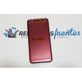 CARCASA TAPA TRASERA CON LENTE DE CAMARA ORIGINAL PARA HTC A9 - ROJA