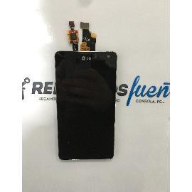 REPUESTO PANTALLA LCD DISPLAY + TACTIL LG E975 OPTIMUS G - NEGRA / RECUPERADA