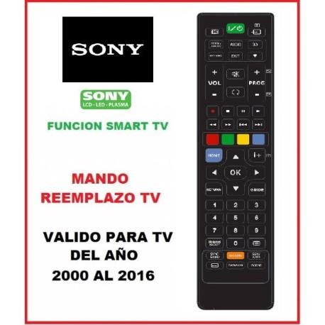 MANDO A DISTANCIA TELEVISION TV TELEVISOR SONY FABRICADOS DEL AÑO 2000 AL 2016 - REEMPLAZO