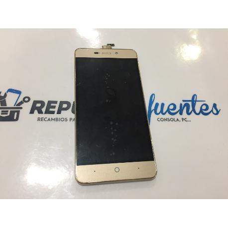 PANTALLA LCD DISPLAY + TACTIL CON MARCO ZTE BLADE A452 ORO DORADA - RECUPERADA