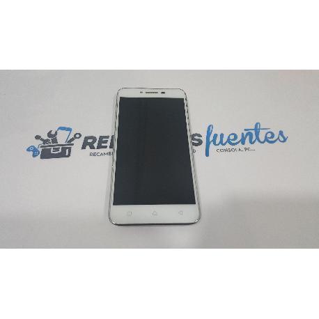 PANTALLA LCD + TACTIL CON MARCO ORIGINAL PARA LENOVO VIBE K5 BLANCA - RECUPERADA