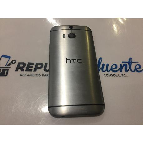 TAPA TRASERA (SIN LENTE) ORIGINAL PARA HTC ONE M8 GRIS - RECUPERADA
