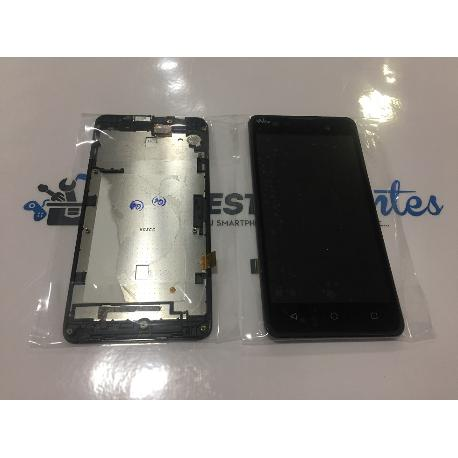 REPUESTO PANTALLA LCD DISPLAY + TACTIL CON MARCO ORIGINAL WIKO LENNY 2 - RECUPERADA