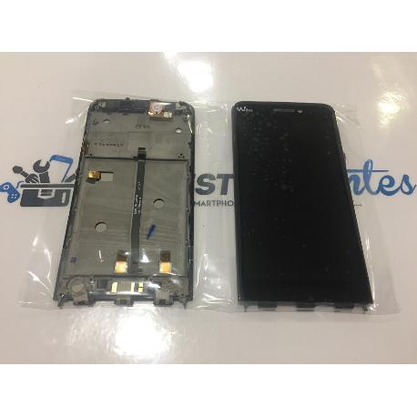 REPUESTO PANTALLA LCD DISPLAY + TACTIL CON MARCO ORIGINAL WIKO WAX NEGRO - RECUPERADA