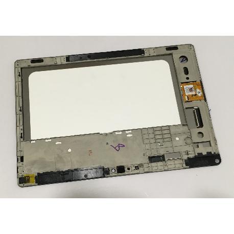 PANTALLA LCD + TACTIL CON MARCO ORIGINAL TABLET BQ AQUARIS M10 HD - NEGRA