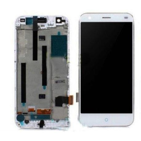 PANTALLA LCD DISPLAY + TACTIL CON MARCO ORIGINAL PARA ZTE BLADE S6 BLANCA - RECUPERADA