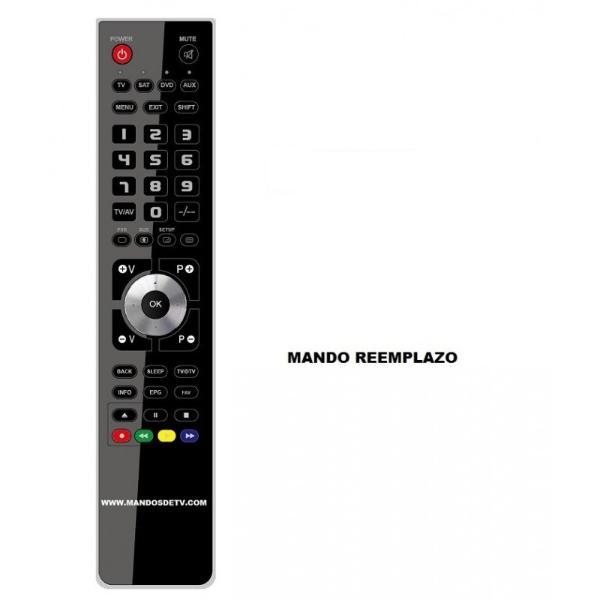 RECAMBIO DE MANDO A DISTANCIA TELEVISION TV RECEPTOR SATELITE SAT DTT IRIS - REEMPLAZO